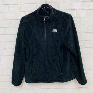 THE NORTH FACE OSITO BLACK ZIP UP JACKET MEDIUM